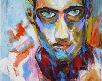 Abstract portrait painting