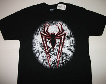 MARVEL Spider-Man Black T-shirt Size Large NEW with tags
