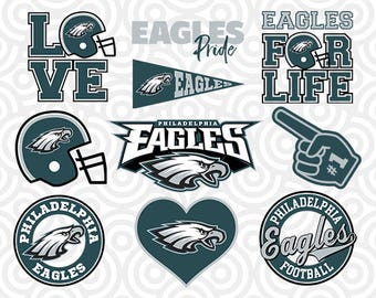 PHILADELPHIA EAGLES SVG Set, Philadelphia Eagles Digital Download Files, Football Logos, Die Cut Files in dxf, png, jpg, eps, pdf, S-26