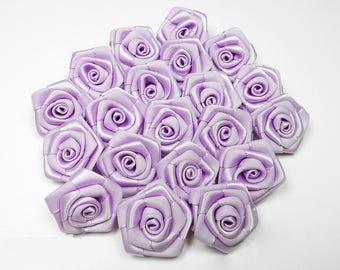 10 pearls, rose mauve satin 3 cm in diameter ref430