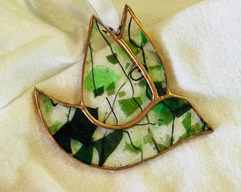 Stained Glass Dove Ornament