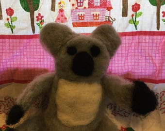 Needle Felted Wool Jandmade Koala