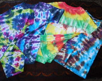 Kids Tie-Dye shirts (customizable)