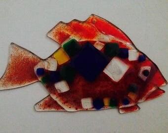 Colourful Fused Glass Fish