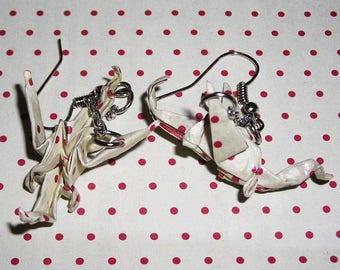 Pair of earrings dragons origami (origami earrings)
