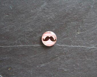 """""""Collection moustache"""" 18 mm cabochon glass"""