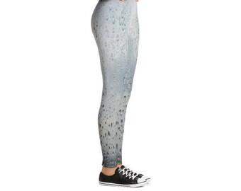 Yogi & Pie Grey Wet Windshield Yoga Leggings