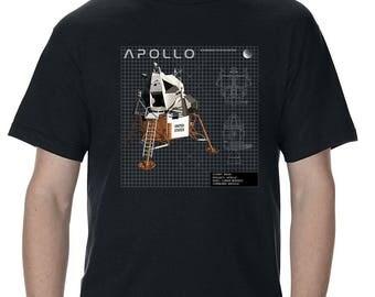 Nasa Apollo Lunar Module and Lander Design T-Shirt