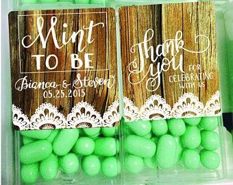 Wood Tic tac labels, tic tac favors, mint favors, mint to be favors, bridal shower favors, engagement favors, Wedding favors