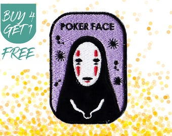 Funny Patches Ghost Patches Iron On Patch Embroidered Patch No Face Spirited Away
