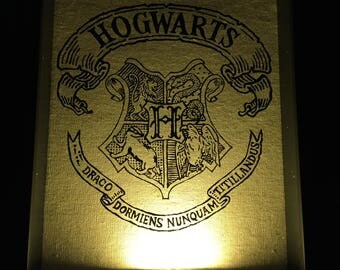 Hogwarts Crest Light Box