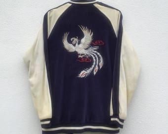 SUKAJAN vintage 90s Japan Sukajan souvenir jacket M