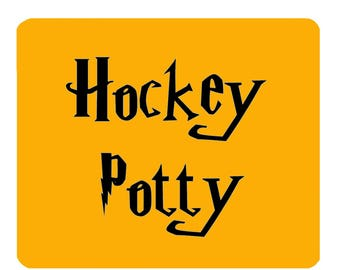 4 x Hockey Potty Placemats, Fantastic Field Hockey or Hockey Gift! Perfect for that Hockey Playing Muggle in your Life! Hockey Housewares