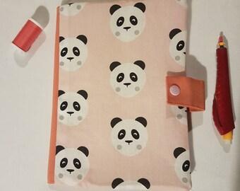 Pink patterned panda health book