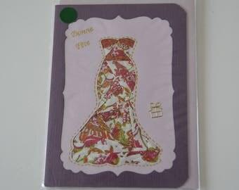 Party dress irish folding card