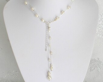 Mathilda back jewel ivory pearls
