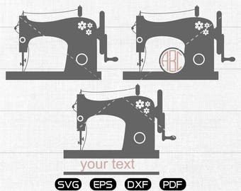 Sewing machine Svg, Sewing machine Clipart, Monogram Frame cricut, cameo, silhouette cut files commercial & personal use