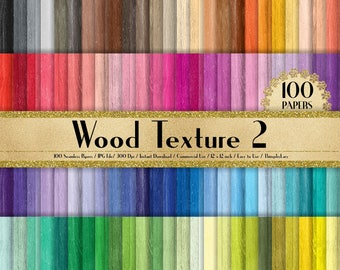 100 Seamless Wood Texture Papers in 12 inch, 300 Dpi Planner Paper, Commercial Use, Scrapbook Paper,Rainbow Paper, 100 Wood Papers