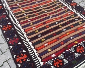 Old Antique Vintage Turkish Rug 1930's Free Shipping