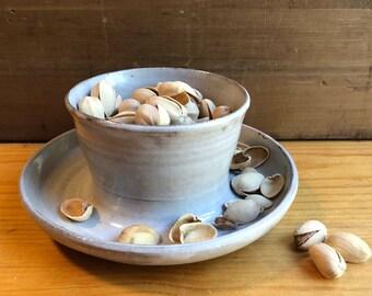 Pistachio Bowl / Ceramic Serving Bowl / Farmhouse Pottery / New House Gift / Boss Gift
