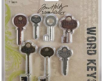 Word Keys – Tim Holtz Idea-ology 7 Piece