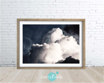 Cloud Print, Moody, Sketchy print, Digital Download, Colour, Wall Art, Living Room, Large Poster, Bedroom, Luxe, Art, Modern, The Sky