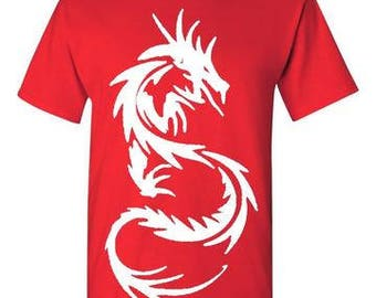 Dragon Red and White T-Shirt