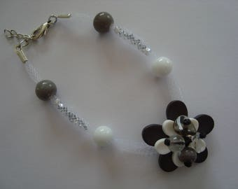 Original grey and white color bracelet