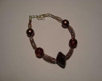 Brown bracelet with Rhinestones