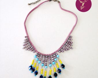 """""""Flight of Macaw"""" necklace"""