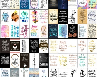 10 Pack Quotes Prints/Post Cards