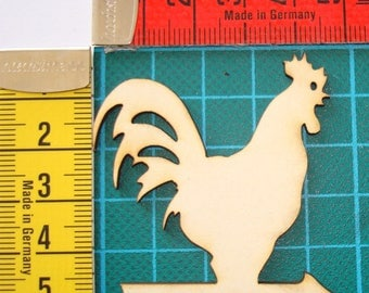 Rooster on arrow 1606 embellishment wooden creations