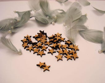 50 stars 1834 wood 1.5 CMS for your creations
