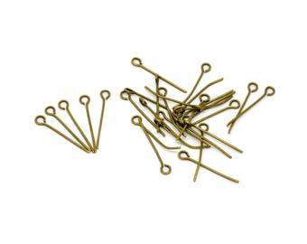 lot de 100 clous tiges à tête boucle 18 mm métal bronze