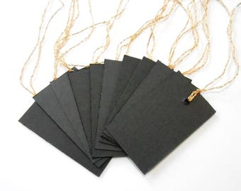 Black and gold small gift tags 10