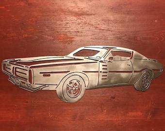 Dodge Challenger Metal Art