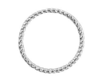 10 anneaux fermés striés 18 mm couleur argentée-fdpg041