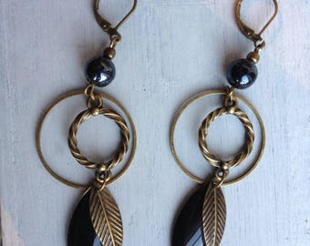 "Earrings ""black"""