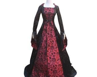 Renaissance women Victorian Wedding Ball gown Bridial dress Gothic Dark Witch  Punk Theater Halloween Costume Reenactment  Dress Vintage