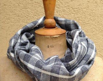 Cheich, écharpe, étole, foulard en lin-coton