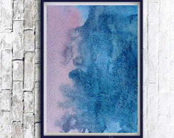 Abstract Wall Art, Printable Abstract, Digital Print, Instant Download Art, watercolor painting, Original watercolor, Abstract Watercolor