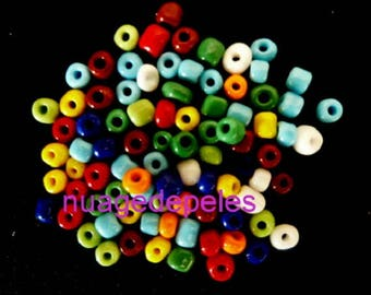 10 gr multicolored seed beads