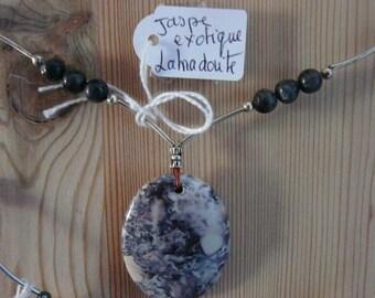 long necklace mi semi precious stone