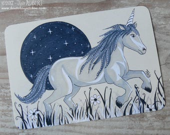 "Card ""Unicorn"" (10,5 x 14,8 cm)"