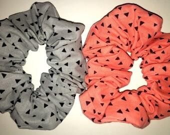 Scrunchie,triangles, hair elastic, geometric