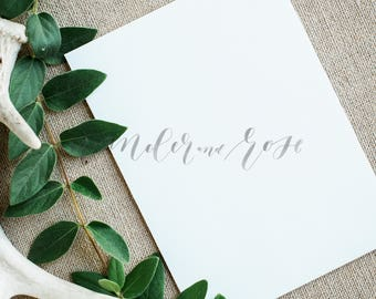 Wedding Invitation Mockup | Styled stock photo Image with blank card & Greenery for Blogs Websites and Instagram