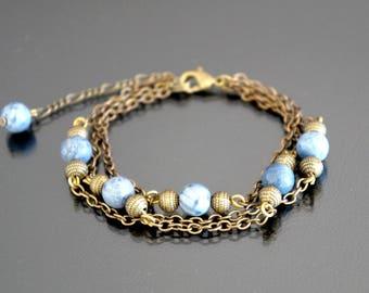 Grey coral bracelet.