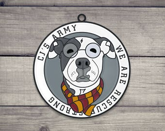CJ's Army Dog Collar Charm/Keychain
