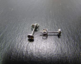set of 5 pairs of stud earrings 925 sterling silver with ties