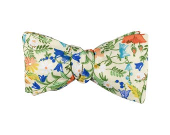 Victorian Floral Bow Tie